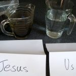 Jesus takes our sin and makes us clean again